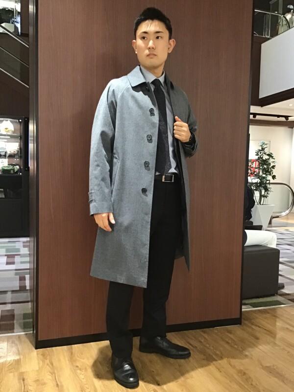 【透湿防風・撥水】ラグランステンカラーコート