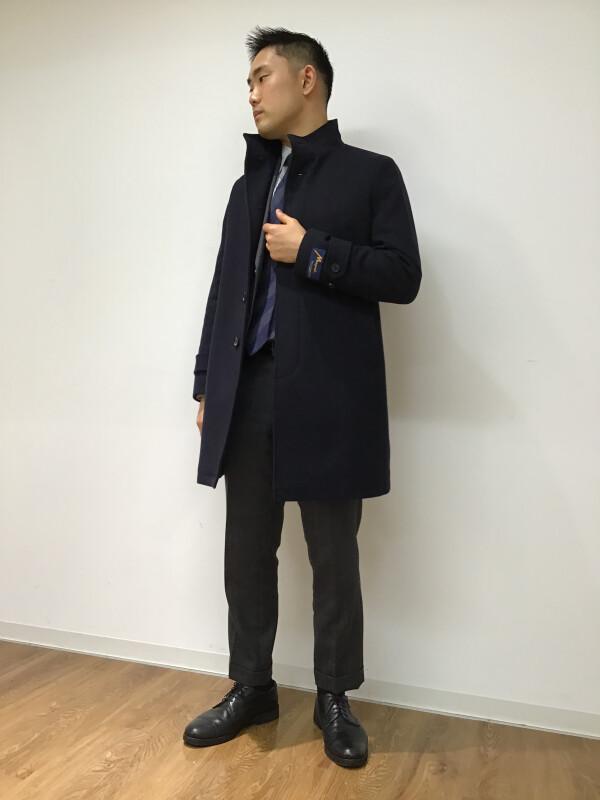 【首元暖か】スタンドカラーコート