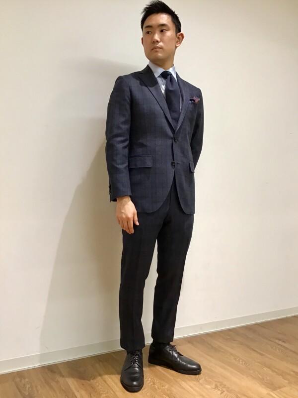 【フランネル×英国調】グレンチェックのお洒落スーツ